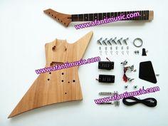 87.00$  Buy now - http://ali726.worldwells.pw/go.php?t=32438007357 - Afanti Music / Mahogany Body & Neck / Rosewood Fingerboard/ Afanti DIY Guitar Kit(AEX-815K) 87.00$