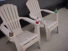Brown Plastic Adirondack Chairs