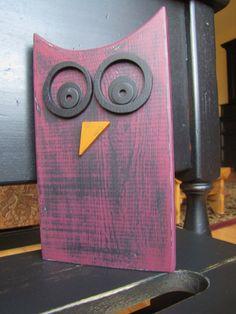 purple wooden owl