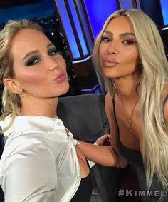 "2,802 Likes, 12 Comments - Kim Kardashian Snapchats  (@kimksnapchats) on Instagram: ""Kim & Jen @ Jimmy Kimmel Live #kimkardashian"""