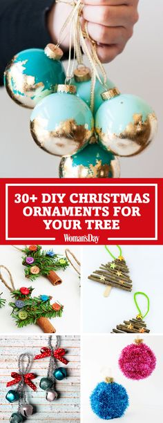 Save these DIY Christmas Ornament ideas for later by pinning this image and follow Woman's Day on Pinterest for more.