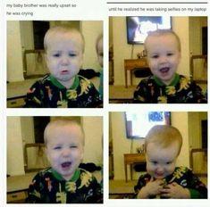 funny tumblr post hashtag baby selfies