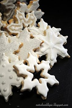 Snowflake cookies (for YWLG)