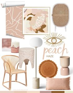 Trend: Peach Haze — Adore Home Magazine - Healty fitness home cleaning Classic Home Decor, Easy Home Decor, Home Decor Kitchen, Cheap Home Decor, Kitchen Ideas, My Living Room, Living Room Decor, Bedroom Decor, Hallway Decorating