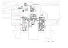 Image 23 of 30 from gallery of Avila Hospital / EACSN. Photograph by Miguel de Guzmán Hospital Floor Plan, Hospital Plans, Healthcare Architecture, Image 30, Ground Floor Plan, Geometric Art, Facade, Floor Plans, How To Plan