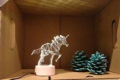 veilleuse Licorne rose, lampe de Licorne, lampe de table décoratifs sur Etsy, 40,87€