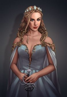 Another D&D character illustration commission for a client. Medieval Princess, Fantasy Princess, Princess Art, Fantasy Girl, Medieval Girl, Fantasy Women, Female Character Inspiration, Fantasy Character Design, Character Art