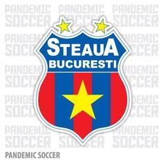 Steaua Bucuresti Romania Vinyl Sticker Decal Adhesive Vinyl, Romania, Decals, Stickers, Ebay, Color Print, Football Soccer, Badges, Sport
