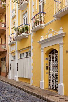 Colorful buildings in old San Juan Puerto Rico