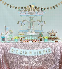 """We Heart Parties: Prince Dylan's """"Royal Carousel"""" Birthday Party"""