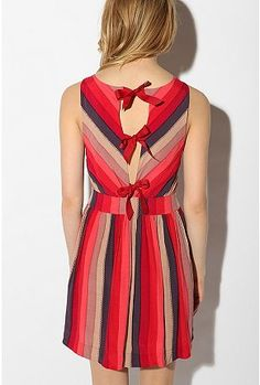 cooperative printed bow-tieback dress - love the colors