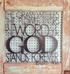 I want one of these!!!! Metal Scripture Wall Hanging Word of our God by thewordwithin