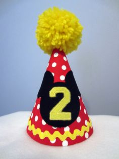 Custom Mickey Mouse Birthday Hat 1300 Via Etsy