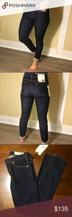 NWT Rag and Bone Heritage High Rise Skinny NWT Rag and Bone Heritage High Rise Skinny size 28. Unfortunately they are too long for my wife, so we have to get rid of them! Very soft and comfortable jeans, dark wash. 98% cotton and 2% polyurethane. Made in USA with imported materials. Make an offer! rag & bone Jeans Skinny