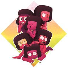 Steven universo, fandom, Ruby (SU), SU caracteres, globo del ojo (SU), Marina (SU), Doc (SU), Ejército (SU), Leggy (SU), el arte de SU