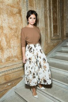vintage look with a maxi skirt