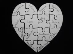 Sn ssclass on pinterest puzzle pieces puzzles and for Heart shaped bulletin board