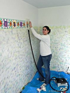 How to Remove Wallpaper Glue Residue Handy Dandy