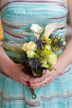 Mother's clutch or small bridemaid bouquet for the bride looking for something different