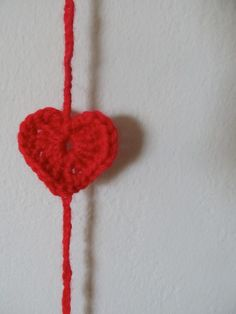 You're going to love this beautiful hand-crocheted heart garland!