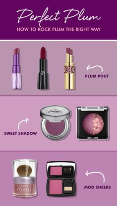 Searching for a good plum lipstick? Or maybe you're thinking about going bold with a plum hair color...or maybe just sticking with plum colored makeup (for now!). Here's how to rock this dark shade the right way.