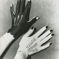 "Pablo Picasso (b. 1881 - d. Spanish), Paint painted on hands similar to gloves, for: ""Hands Painted by Picasso"", Photography by Man Ray - d. Herbert List, Homo Faber, Willy Ronis, Lee Miller, Elsa Schiaparelli, Poster S, Foto Art, Pablo Picasso, White Photography"