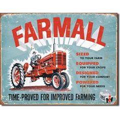 IH Farmall C TIN SIGN antique tractor ad vtg garage metal poster wall decor 1620