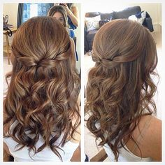 Awesome Easy Semi Formal hairstyles for long hair - Frisuren - Wedding Hairstyles Down Hairstyles, Easy Hairstyles, Prom Hairstyles, Black Hairstyles, Engagement Hairstyles, Bridesmaids Hairstyles, Easy Elegant Hairstyles, Graduation Hairstyles, Hairstyles Videos