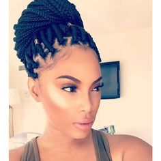 Inspiration For My Hair a.k.a. Box Braids ❤ liked on Polyvore featuring accessories and hair accessories