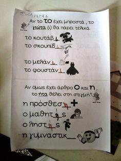 Τάξη αστεράτη: Το καπέλο περπατάει + Επαναληψη School Lessons, Bullet Journal, Education, Grade 1, Taxi, Blog, Greek, Babies, Note