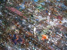 i'd be ok if my craft room floor looked like this :) Painting On Wood, Painting & Drawing, Painted Wooden Floors, Paint Splatter, Art Studios, Sculpture Art, City Photo, Fine Art, Flooring
