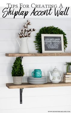 See how Heidi from Honeybear Lane created an innovative DIY shiplap accent wall in her home using Behr paint. Unique Home Decor, Cheap Home Decor, Diy Home Decor, Coastal Decor, Decor Crafts, Diy Crafts, Diy Design, Interior Design Tips, Home Decor Inspiration