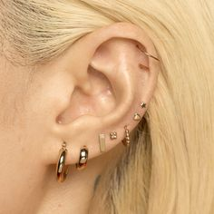 Bamboo Hoop Earrings, Silver Hoop Earrings, Crystal Earrings, Statement Earrings, Silver Ear Cuff, Star Earrings, Gothic Jewelry, Black Crystals, Ear Jewelry