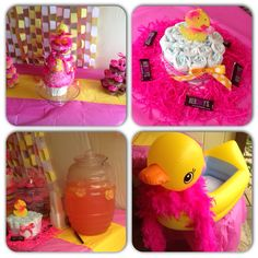 Baby shower duck theme for girl(;