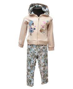 Tutina Brums - Abbigliamento da Castagna - Tutina Brums 100% cotone felpato zip intera e cappuccio integrato . Pantalone leggins aderente in fantasia all over che riprende quella nel cappuccio .