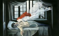 "Fernando Vicente (Spanish): Painting, from ""Wuthering Heights"" Emily Bronte, Heathcliff Wuthering Heights, Tragic Love Stories, Visual Metaphor, Illustration Techniques, Colour Field, Fire Heart, Mattress Covers, Classic Books"