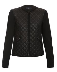 "Black Quilted Leather Jacket | Piazza Sempione | Lele loves this ""refined leather jacket."""