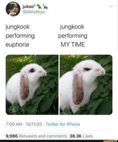 Jungkook Cute, Jimin, Jikook, Funny Cartoon Gifs, K Pop, J Hope Dance, Kpop Memes, Bts Memes Hilarious, Bts Tweet