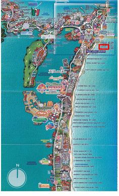 2007 stayed in Mayan Riviera visited Cancun. map of cancun hotel zone | Cancun Hotel Zone Map, Cancun Maps