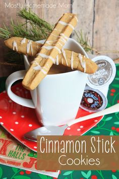 Mostly Homemade Mom: Cinnamon Stick Cookies and my Keurig 2.0!