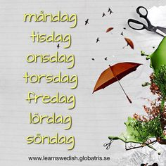 Days of the week in Swedish // Veckans dagar på svenska