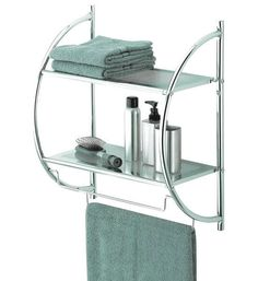 The Whitmore shelving is easy to assemble. The rack also takes up very little space in your powder room. The bathroom shelves with towel bar look great in the bathroom with their sleek chrome finish. | eBay!