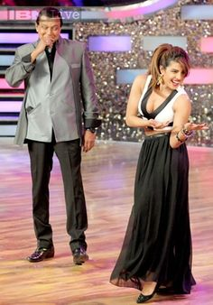 Priyanka Chopra came on the sets of dance reality show 'Dance India Dance' to promote her upcoming film 'Gunday'.