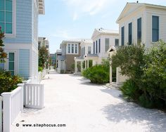 Seaside, FL. My fave place is the lil house in the middle on the right...beachfront bliss