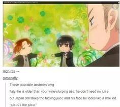 I feel like the caption is Doitsu's thoughts.