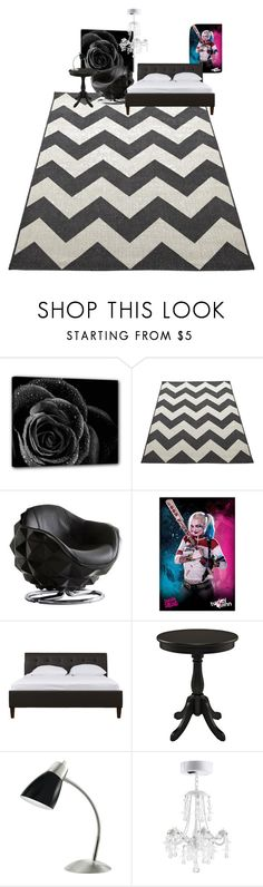 """""""all black  bed room"""" by zoeewilliams on Polyvore featuring interior, interiors, interior design, home, home decor, interior decorating and Andrew Martin"""
