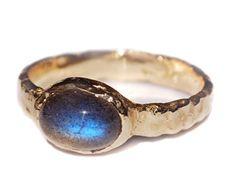 Night Sky Ring  14k gold and labradorite ring