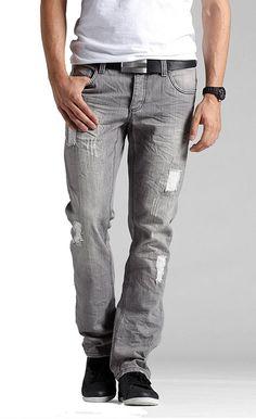 Herren Jeans grey  destroyed  Neu Gr.36/32