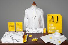 VERPAKKING: inspiratie voor verpakking (kleuren huisstijl) en hemden/blouses op maat (met gele stiksels?)