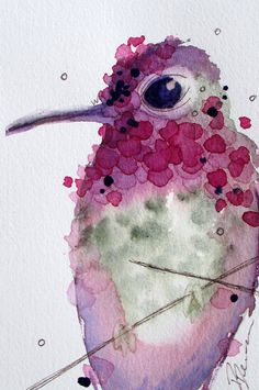 Hummingbird Watercolor Paintings | Hummingbird Watercolor Painting, Original Bird Art, Hummingbird Art